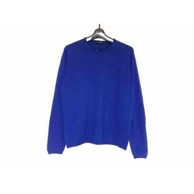 【中古】 クルチアーニ Cruciani 長袖セーター サイズ48 XL メンズ ブルー