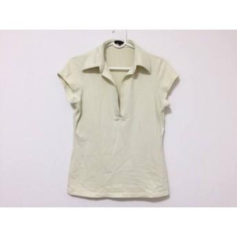 【中古】 セオリー theory 半袖ポロシャツ サイズ4 S レディース アイボリー