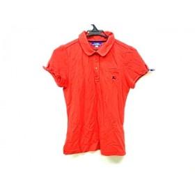 【中古】 バーバリーブルーレーベル 半袖ポロシャツ サイズ38 M レディース 新品同様 レッド