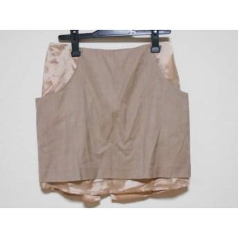 【中古】 エムエムシックス MM6 ミニスカート サイズ42 L レディース 美品 ベージュ