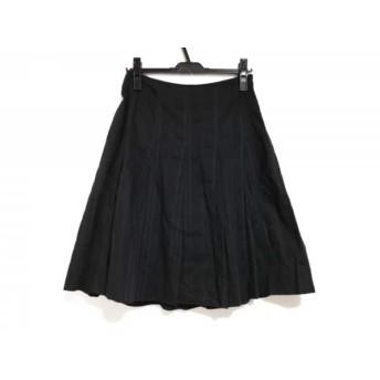 【中古】 バーバリーロンドン Burberry LONDON スカート サイズ38 L レディース 黒 チェック柄