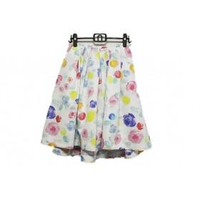 【中古】 チェスティ Chesty ロングスカート サイズ1 S レディース 白 ピンク マルチ 花柄