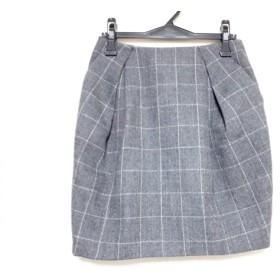 【中古】 ニジュウサンク 23区 スカート サイズ36 S レディース ダークグレー チェック柄