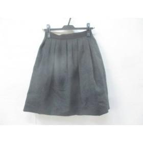 【中古】 エムプルミエ M-PREMIER スカート サイズ36 S レディース ダークグレー