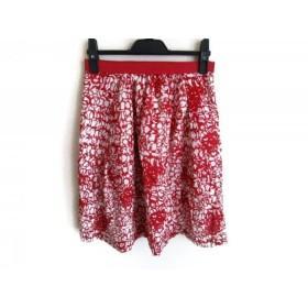 【中古】 エストネーション ESTNATION スカート サイズ36 S レディース レッド 白 bis