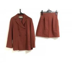 【中古】 ホコモモラ JOCOMOMOLA スカートスーツ サイズ40 XL レディース レッド