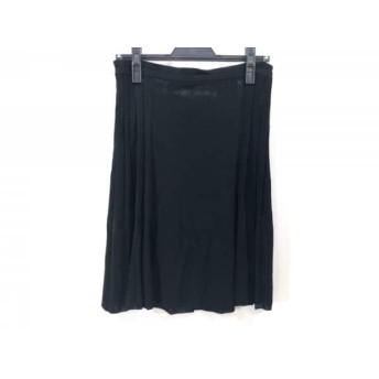 【中古】 アンテプリマ ANTEPRIMA スカート サイズ38 S レディース 黒 ニット/プリーツ