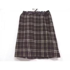 【中古】 バーバリーブルーレーベル スカート サイズ38 M レディース 美品 チェック柄