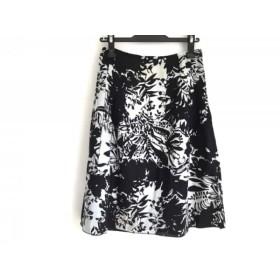 【中古】 ジユウク 自由区/jiyuku スカート サイズ38 M レディース 黒 ライトグリーン 花柄