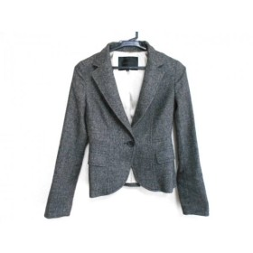 【中古】 アンタイトル UNTITLED ジャケット サイズ0 XS レディース 黒 白