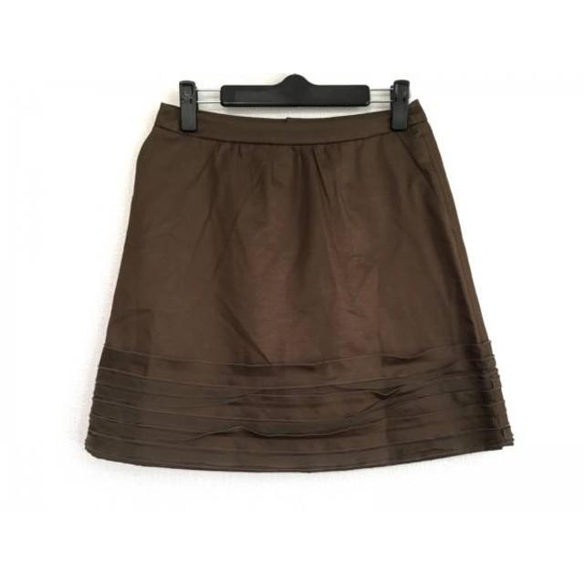【中古】 ランバンオンブルー LANVIN en Bleu ミニスカート サイズ38 M レディース ダークブラウン