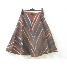 【中古】 ノーブランド スカート サイズ38 M レディース ブラウン ブラック ベージュ