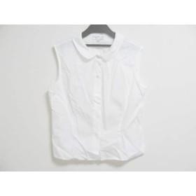 【中古】 アニエスベー agnes b ノースリーブシャツブラウス サイズ40 M レディース 白