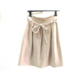 【中古】 ストロベリーフィールズ STRAWBERRY-FIELDS スカート サイズ2 M レディース ベージュ