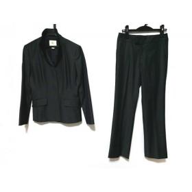 【中古】 クミキョク レディースパンツスーツ サイズ2 M レディース ダークグレー 肩パッド