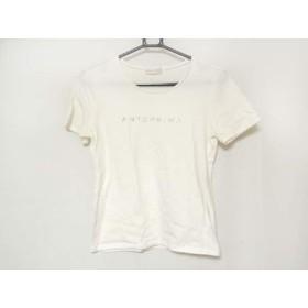 【中古】 アンテプリマ ANTEPRIMA 半袖Tシャツ サイズ38 S レディース アイボリー ラインストーン