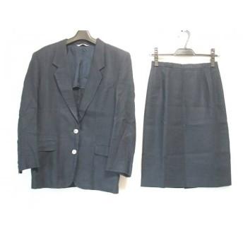 【中古】 ニューヨーカー NEW YORKER スカートスーツ レディース ダークネイビー 肩パッド