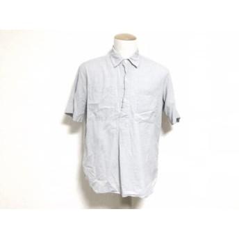 【中古】 マーガレットハウエル MHL. 半袖シャツ サイズL メンズ ライトブルー