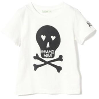 BEAMS mini / スカルフロッキーTシャツ 19s (90~150㎝) キッズ Tシャツ OFF WHT 100