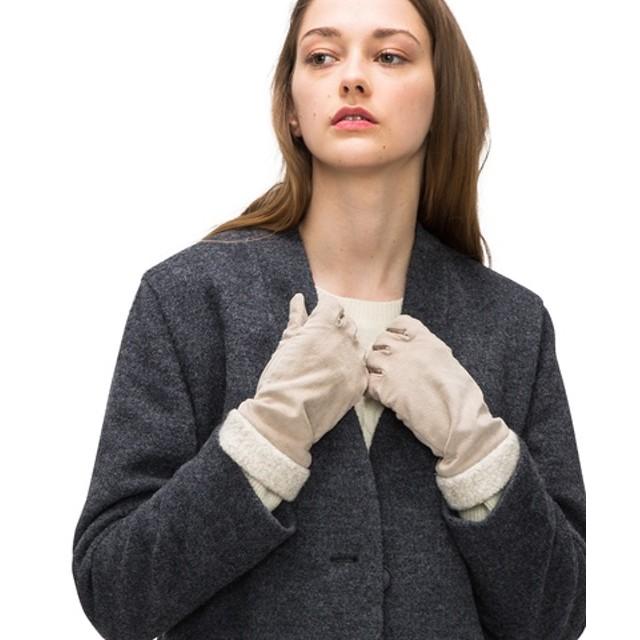 ボア付きスウェード手袋
