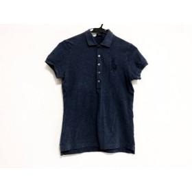 【中古】 ラルフローレン 半袖ポロシャツ サイズS レディース ビッグポニー ネイビー THE SKINNY POLO