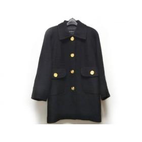 【中古】 ビッキー VICKY コート サイズ9 M レディース 黒 冬物