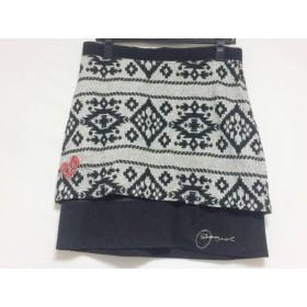 【中古】 デシグアル Desigual スカート サイズL ( EUR ) レディース 黒 白 ニット