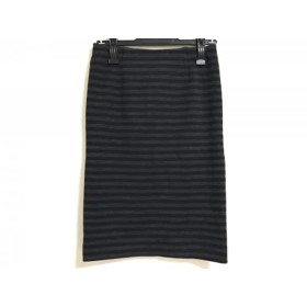 【中古】 ドゥーズィエム DEUXIEME CLASSE スカート サイズ38 M レディース 黒 ダークグレー ボーダー