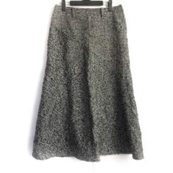 【中古】 ワイズ Y's ロングスカート サイズ2 M レディース ダークグレー チェック柄