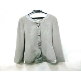 【中古】 ノーブランド ジャケット サイズ9 M レディース グレー ポリエステル