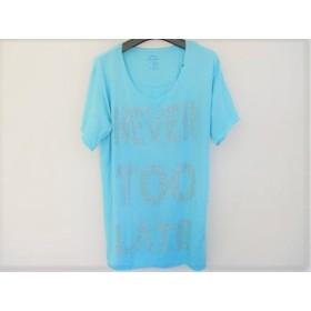 【中古】 ガス GAS 半袖Tシャツ サイズS レディース ライトブルー シルバー ラインストーン