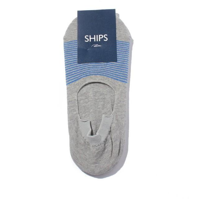 シップス SCO: SHIPS(シップス) シューズ イン ボーダー ソックス メンズ ライトグレー F 【SHIPS】
