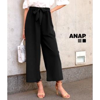 ANAP(アナップ)リボン付ストライプワイドパンツ