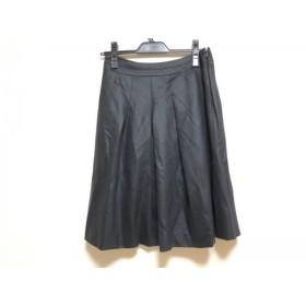 【中古】 アマカ AMACA スカート サイズ38 M レディース 黒