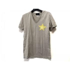 【中古】 コールブラック COALBLACK 半袖Tシャツ サイズM メンズ ベージュ イエロー アイボリー Vネック