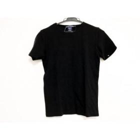 【中古】 ラルフローレン RalphLauren 半袖セーター サイズS レディース 黒