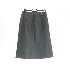 【中古】 ジユウク 自由区/jiyuku スカート サイズ36 S レディース ダークグレー ダークブラウン