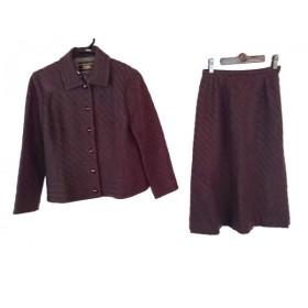 【中古】 レリアン Leilian スカートスーツ サイズ9 M レディース ダークブラウン
