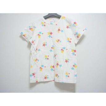 【中古】 アニエスベー agnes b 半袖Tシャツ レディース 白 イエロー マルチ 星柄