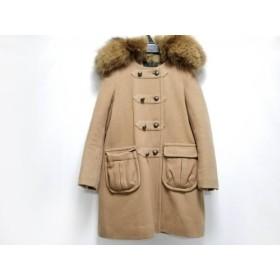 【中古】 フローレント FLORENT コート レディース ブラウン ファー/冬物