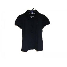 【中古】 バーバリーブルーレーベル Burberry Blue Label 半袖ポロシャツ サイズ38 M レディース 黒