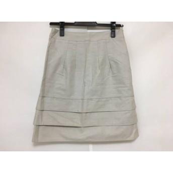 【中古】 アプワイザーリッシェ Apuweiser-riche スカート サイズ2 M レディース ライトグレー