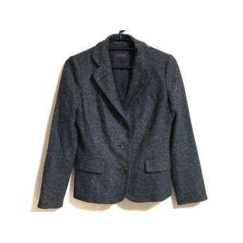 【中古】 ヨシエイナバ YOSHIE INABA ジャケット サイズ7 S レディース 美品 ダークグレー ツイード