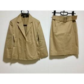 【中古】 イネド INED スカートスーツ サイズ7 S レディース ライトブラウン