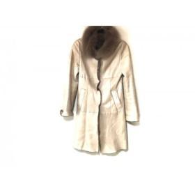 【中古】 ボールジー BALLSEY コート サイズ38 M レディース ベージュ ムートン/冬物