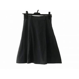 【中古】 アニエスベー agnes b スカート サイズ1 S レディース ダークグレー フレア
