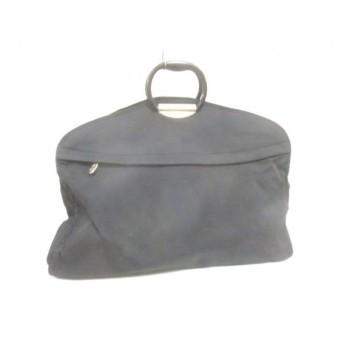 【中古】 サムソナイト Samsonite ハンドバッグ 黒 ナイロン プラスチック