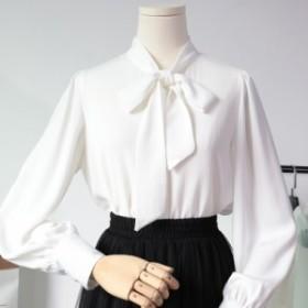 ボウタイホワイトシャツ yh19