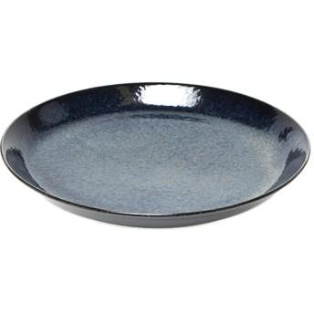 丸皿 藍彩 19.5cm ホームコーディ 19.5cm 洋食器