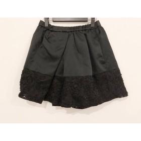 【中古】 ヌメロ ヴェントゥーノ N゜21 ミニスカート サイズ38 M レディース 美品 黒 ウエストゴム